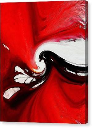 Red Flood Canvas Print by Steve K