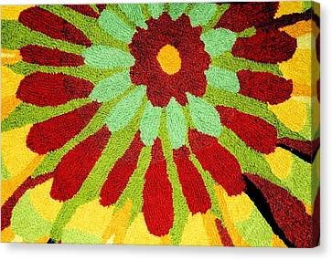 Canvas Print featuring the photograph Red Flower Rug by Janette Boyd