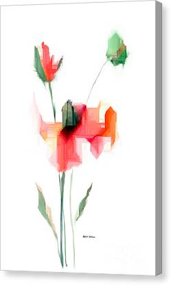 Red Flowers Canvas Print by Rafael Salazar