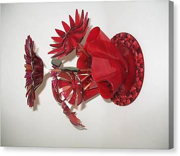 Red Flowers Canvas Print by Steven Schramek
