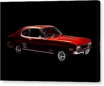 Red Ford Capri Canvas Print by Steve K