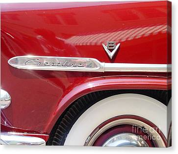 Canvas Print featuring the photograph Red Ford Crestline V8 by Ecinja Art Works