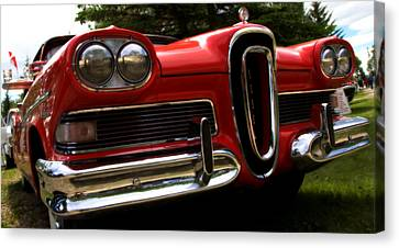 Red Ford Edsel Canvas Print by Mick Flynn