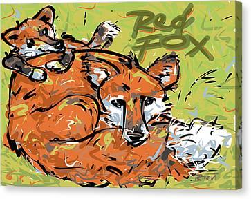 Bushy Tail Canvas Print - Red Fox by Brett LaGue