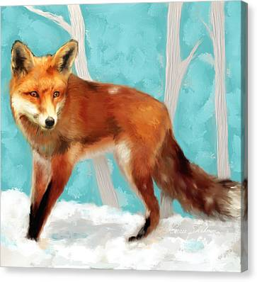 Red Fox Canvas Print by Enzie Shahmiri