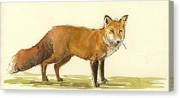 Wild Dogs Canvas Print - Red Fox by Juan  Bosco