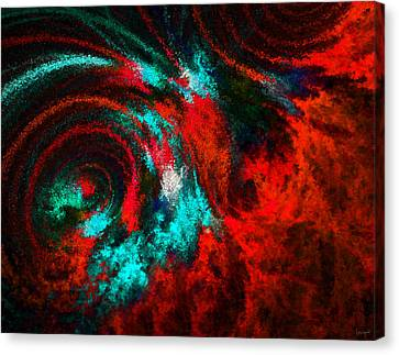 Red Fury Canvas Print by Lourry Legarde