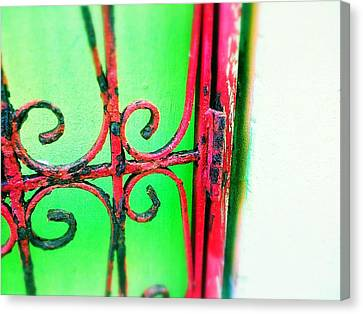 Red Gate Canvas Print by Olivier Calas
