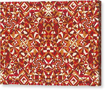 Red Geometrics Canvas Print by Sumit Mehndiratta