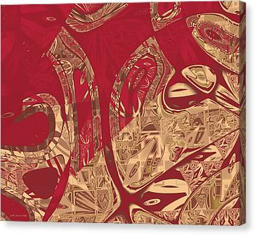 Red Geranium Abstract Canvas Print by Judi Suni Hall