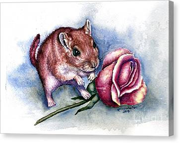 Gerbil Canvas Print - Red Gerbil  by Karen Wheeler