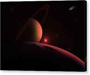 Red Giant Canvas Print by Ricky Haug