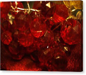 Red Glass Grapes Canvas Print
