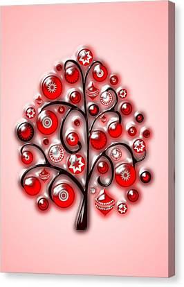 Toy Canvas Print - Red Glass Ornaments by Anastasiya Malakhova