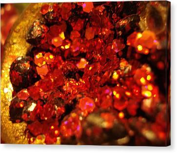 Red Glitter Pomagranite Canvas Print
