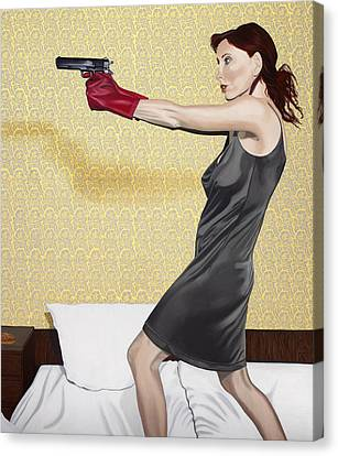 Red Gloves Canvas Print by Marcella Lassen