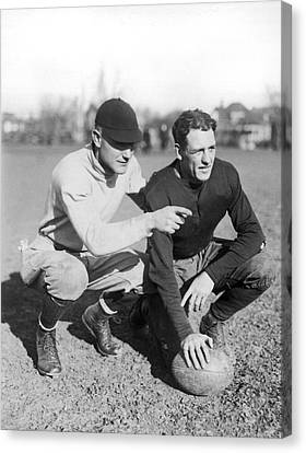 Red Grange And His Coach Canvas Print by Underwood Archives