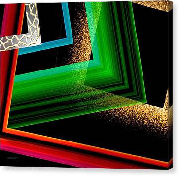 Red Green And Brown Abstract Art Canvas Print by Mario Perez