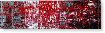 Red Grey White And Black Canvas Print by Martina Niederhauser