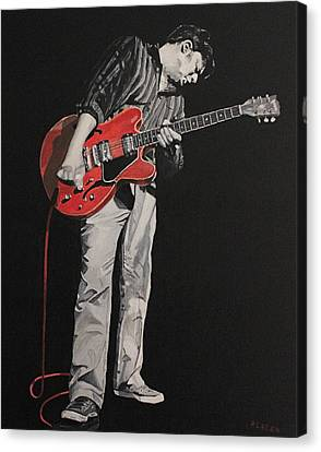 Red Guitar Canvas Print by Patricio Lazen