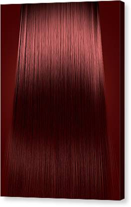 Red Hair Perfect Straight Canvas Print by Allan Swart