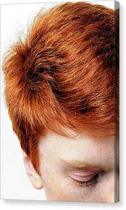 Red-haired Teenage Boy Canvas Print by Cordelia Molloy