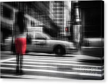 RED Canvas Print by Hannes Cmarits