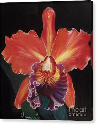 Red Hawaiian Orchid Canvas Print
