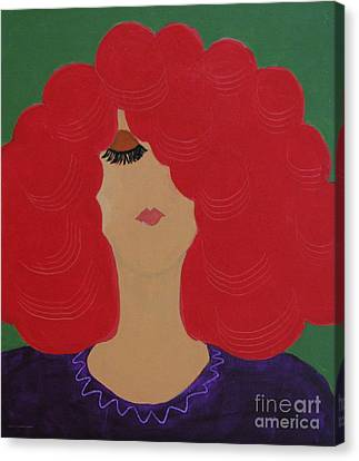 Red Head Canvas Print by Anita Lewis