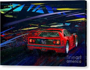 Red Head Riot Canvas Print by Alan Greene