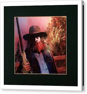 Red Headed Stranger Canvas Print by David  Chapple
