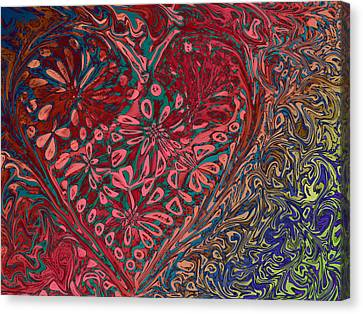 Red Heart Canvas Print by David Pantuso