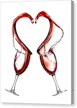 Red Heart Love Canvas Print