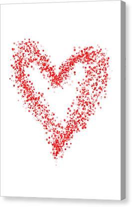 Red Heart Canvas Print by Mariola Szeliga