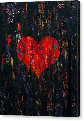 Red Heart Canvas Print by Michael Creese