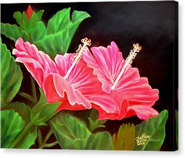 Red Hibiscus No. 4 Canvas Print