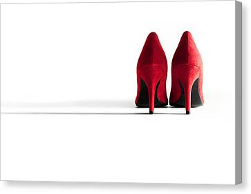 Red High Heel Shoes Canvas Print by Natalie Kinnear