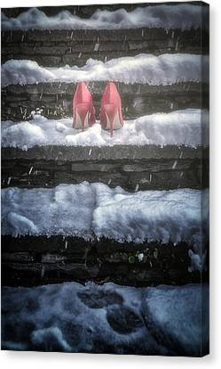 Thriller Canvas Print - Red High Heels by Joana Kruse