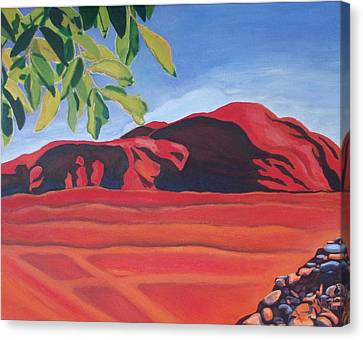 Red Hills In The Republic Of Georgia Canvas Print