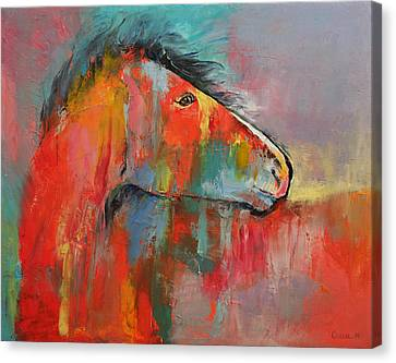Red Horse Canvas Print by Michael Creese