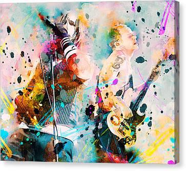 Red Hot Chili Peppers Canvas Print by Rosalina Atanasova
