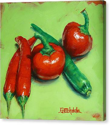 Red Hot Chilli Peppers Canvas Print by Margaret Stockdale