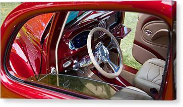 Red Hot Rod Interior Canvas Print by Mick Flynn