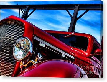 Red Hot Rod Canvas Print by Olivier Le Queinec