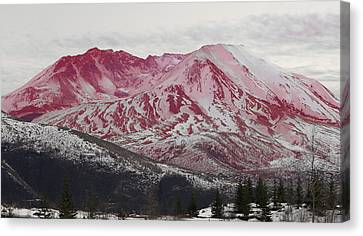 Red Hot St Helen Canvas Print