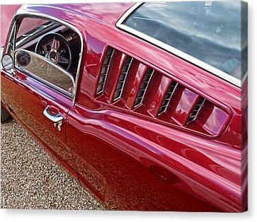 Red Hot Vents - Classic Fastback Mustang Canvas Print
