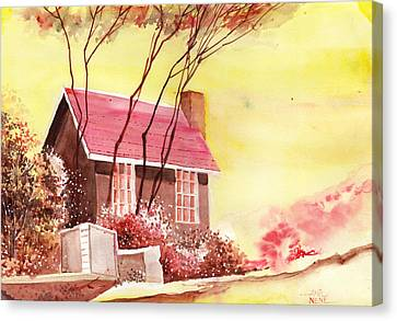 Red House R Canvas Print by Anil Nene