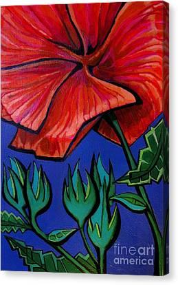 Red Ibiscus - Botanical Canvas Print