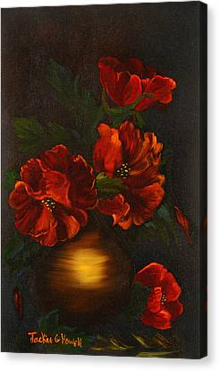 Canvas Print featuring the painting Red Is My Color by J Cheyenne Howell
