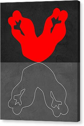 Red Kiss 2 Canvas Print by Naxart Studio